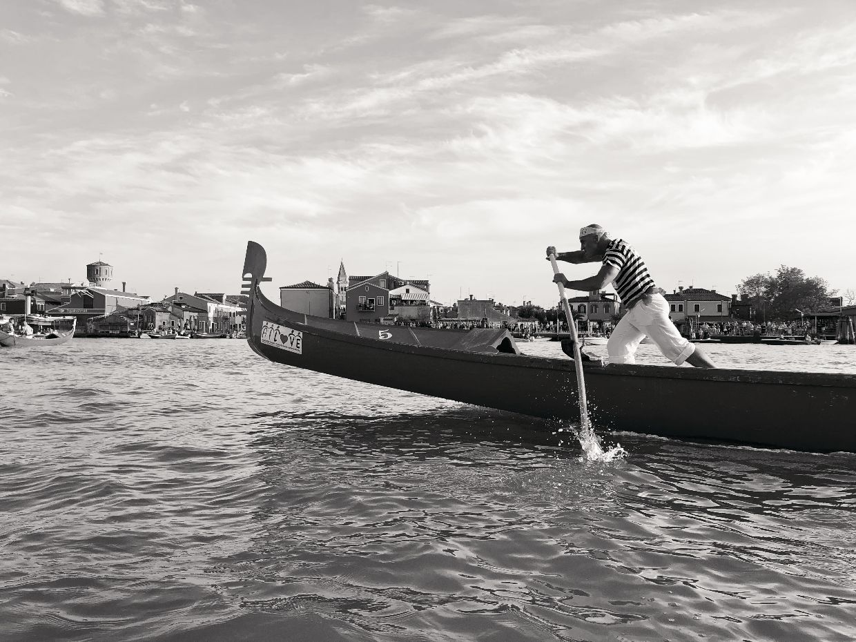 A rowing boat in Burano, Venice